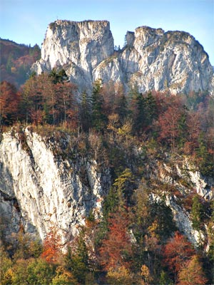Zwillingswand im Herbst